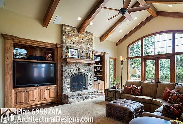 The huge tv next to the fireplace, wish there was a way to hide it a little. it takes away from the beautiful fireplace.