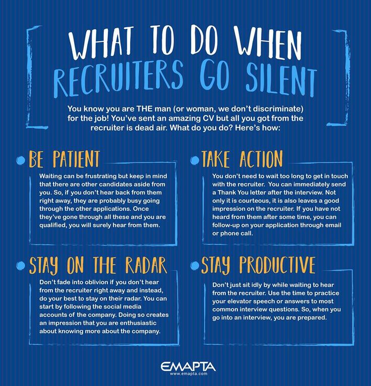 waiting to hear back from the recruiter can be nerve wracking but dont let that dampen your spirits heres how you can make the best out of the situation - How Long After An Interview Should You Hear Back Or Follow Up With A Call