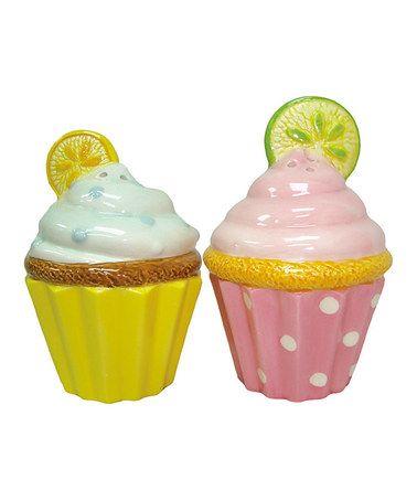 Lemon & Lime Cupcake Salt & Pepper Shakers