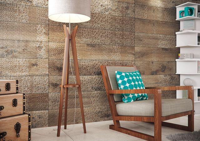 Coleção Arbo HD, da Portinari, cerâmica inspirada na madeira de carvalho