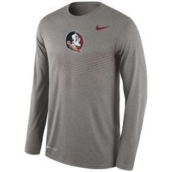 Men's Nike Heather Gray Florida State Seminoles 2015 Sideline Dri-FIT  Legend Long Sleeve Performance