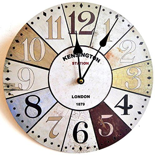 HORLOGE MURALE DESIGN LONDRES KENSINGTON SHABBY CHIC 30CM MULTICOLORE - Tinas Collection Tinas Collection http://www.amazon.fr/dp/B00LNBP8K2/ref=cm_sw_r_pi_dp_o6Advb06XSY4Z