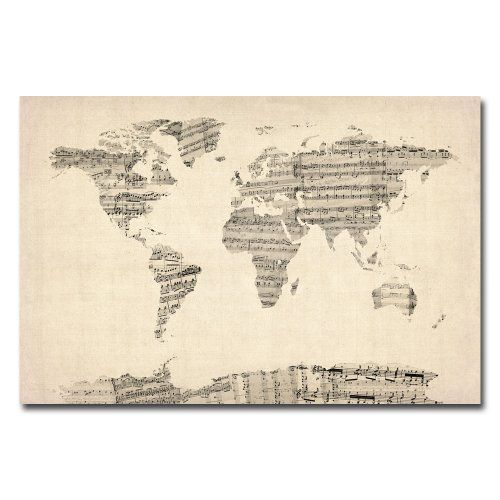 Trademark Fine Art Old Sheet Music World Map by Michael Tompsett Canvas Wall Art, 30x47-Inch Trademark Fine Art http://www.amazon.com/dp/B009VXVYK2/ref=cm_sw_r_pi_dp_cW1Jtb00AK9CE0N3