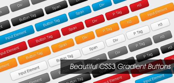 Here I am going to show you how to put the CSS3 gradient feature in a good practical use. Check out my demo to see a set of CSS3 gradient buttons that I have created with just CSS3 (no image or Javascript).