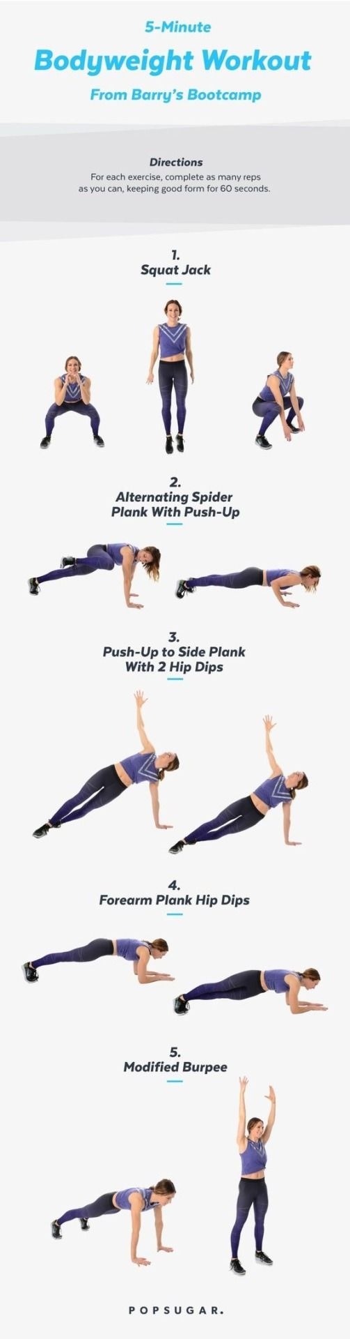 5 minute body weight workout
