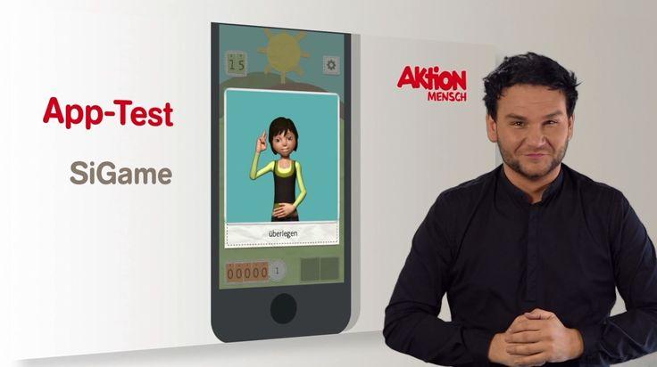 """SIGAME - In verschiedenen Lernspielen vermittelt die """"SiGame""""-App Kenntnisse der Deutschen und Amerikanischen Gebärdensprache sowie der International Sign Language."""