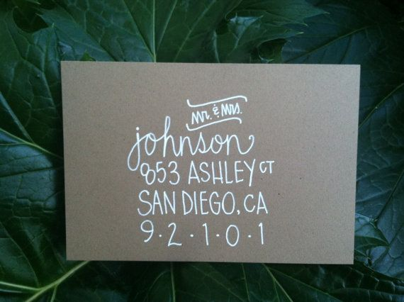 Custom Wedding Envelope Invitation Calligraphy