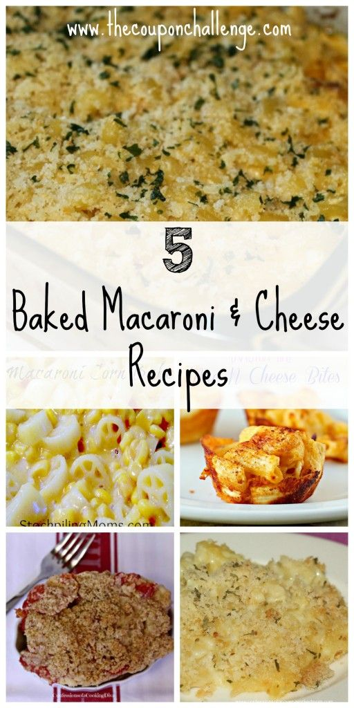 Baked Macaroni Cheese Recipes | get in my belly | Pinterest