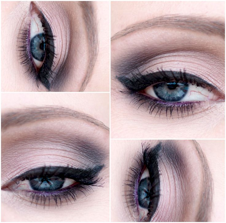 A simple smokey eye look using Urban Decay naked palette.