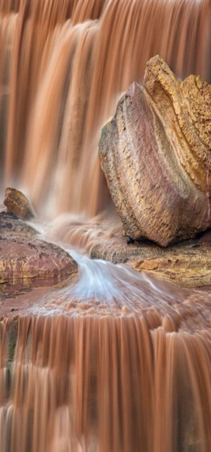 Chocolate Falls: 30 miles northeast of Flagstaff, Arizona in the Painted Desert