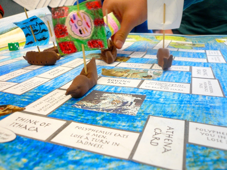 This Is A Pic Of The Odyssey Board Game That I Made With