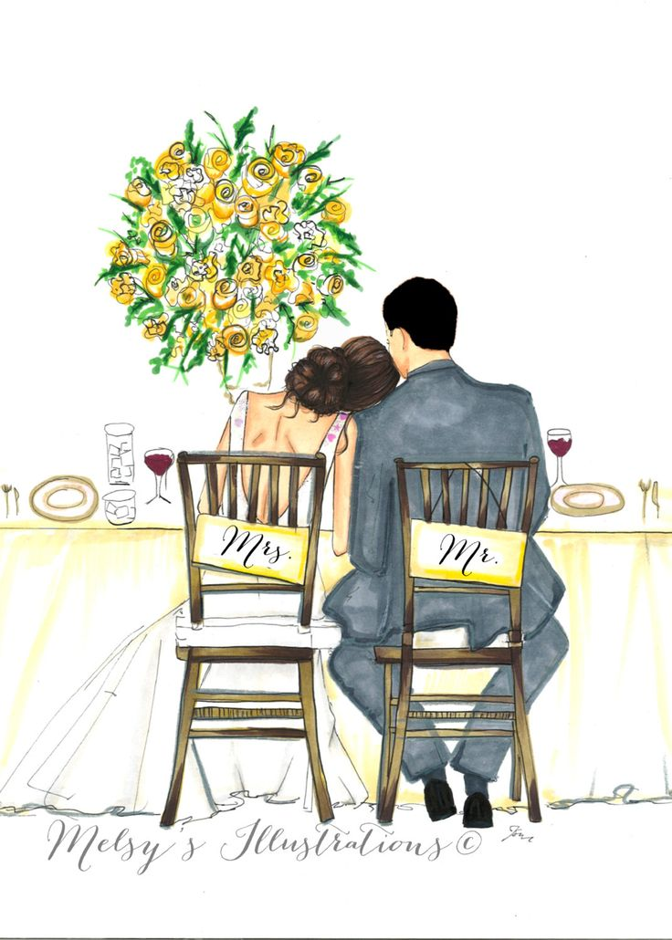 The Bride and Groom by Melsys on Etsy