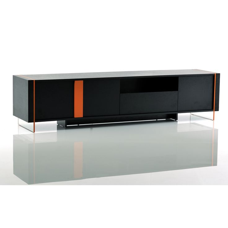 This designer TV Stand offers a subtle integrated look and hidden function for contemporary settings. Storage cabinets and display spaces assure that the attention is on your entertainment system while the stand maintains a minimalist approach.