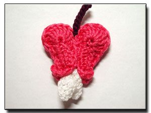 Bleeding Heart crochet flower pattern no. 133