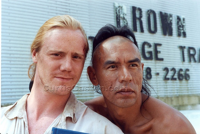 Steven Waddington and Wes Studi, via Flickr. Curtis Gaston Collection from 1991 on location set of Last of Mohicans.