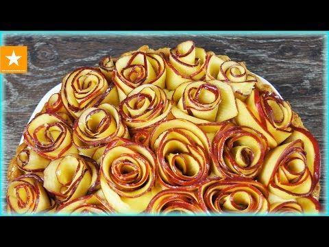 ЯБЛОЧНЫЙ ПИРОГ С ЗАВАРНЫМ КРЕМОМ БЕЗ ЯИЦ от Мармеладной Лисицы | Яблочный тарт с розочками - YouTube