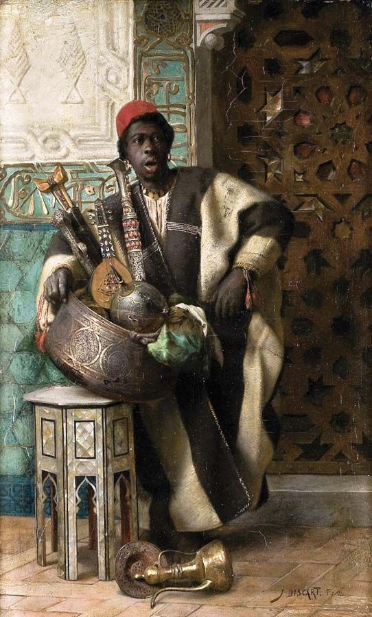 """A North African Merchant"" by Jean Discart (French, 1856-1944)"