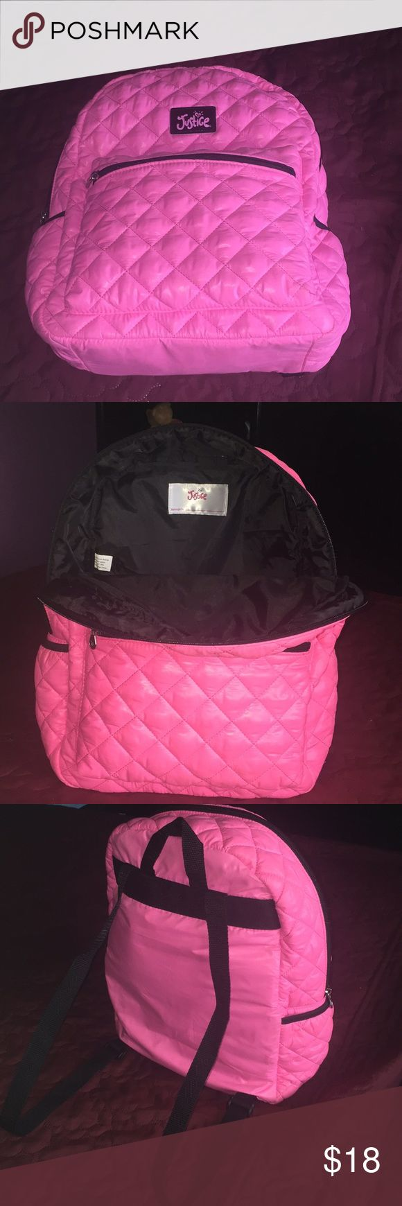 Justice Neon pink backpack Brand new, never been used. Justice Other