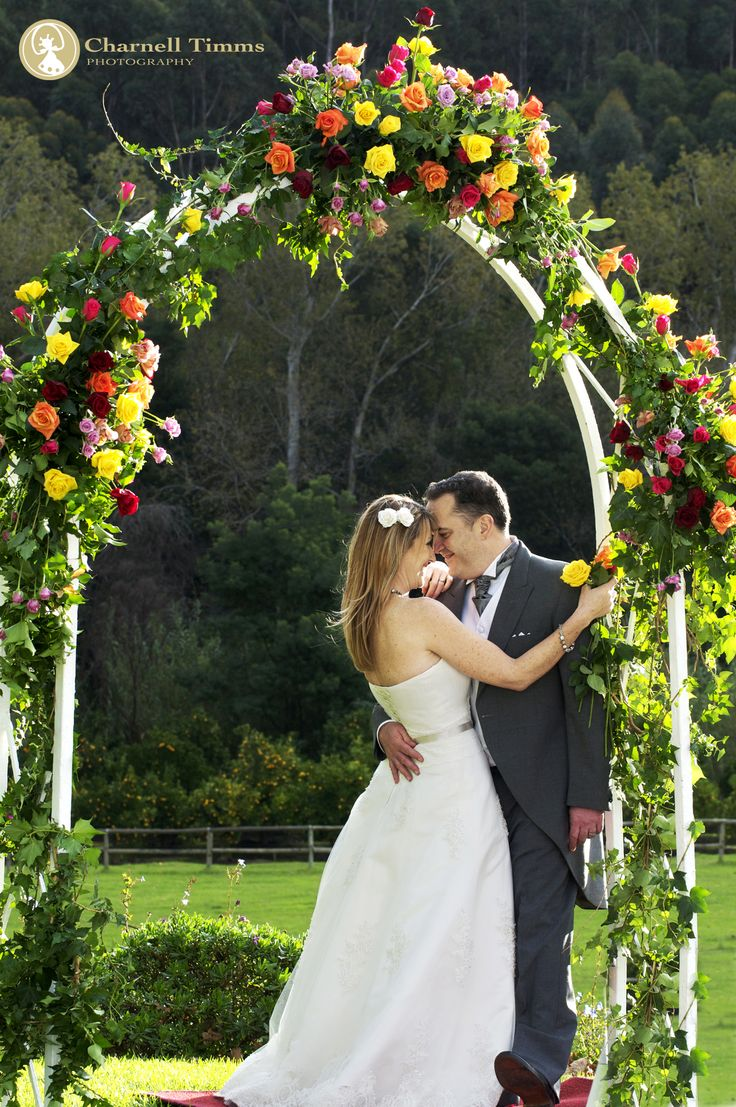 Rose wedding arch. Grand Dedale, Wellington. Charnell Timms Photography
