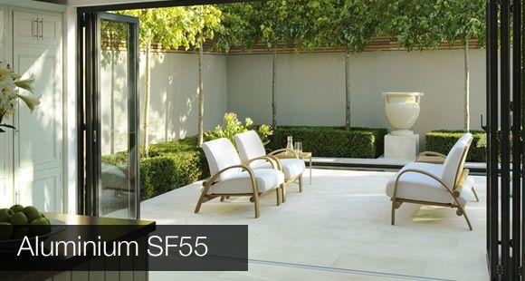 sf55 aluminium folding doors