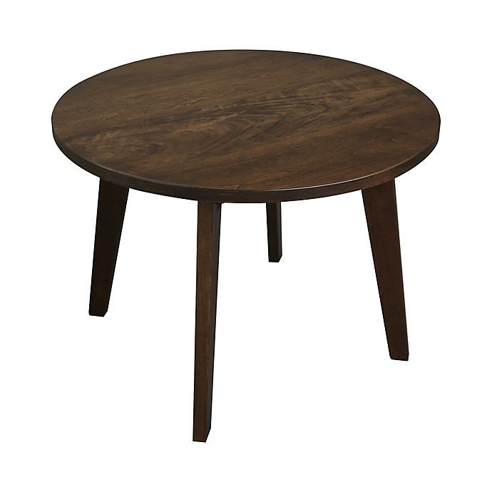 Solid Cherry 24 Inch Round Coffee Table, 24 Inch Round Table