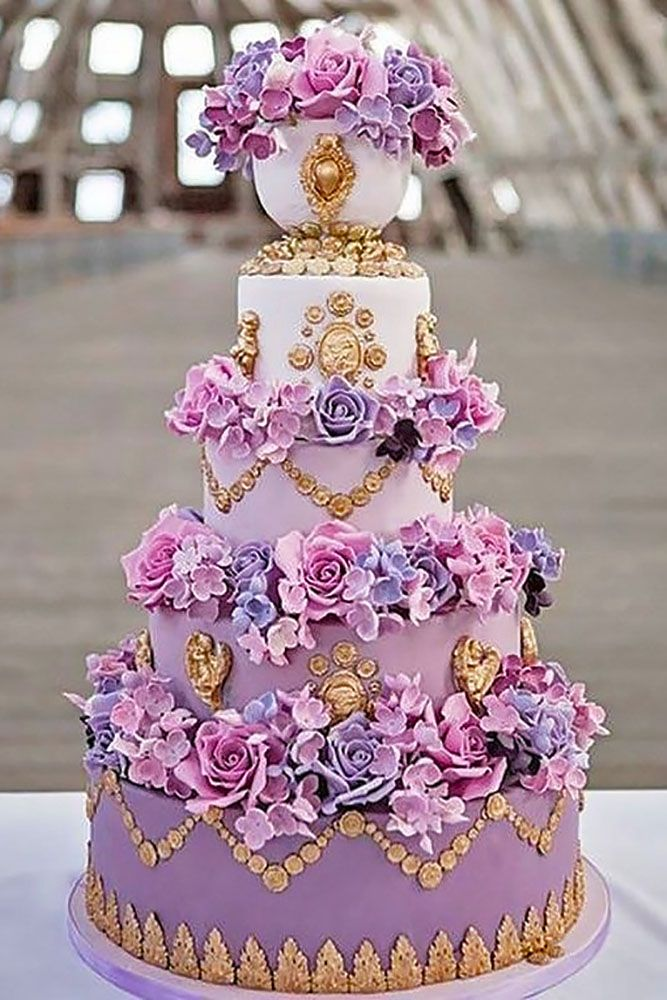 elaborate fondant flower wedding cakes 1
