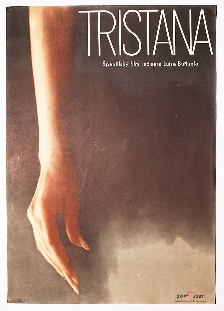 .. Tristana | dir.Luis Buñuel,1970 | Catherine Deneuve,Fernando Rey,Franco | artwork:Olga Poláčková-Vyleťalová, 1972 | Vintage movie poster designed for Luis Buñuel's award winning film Tristana, 1970. This beautiful movie poster was created by Olga Poláčková-Vyleťalová, Czech painter and graphic designer, two years after the release of the film. Her numerous poster designs (over 70) are enriched with .. | #70sMoviePosters, #Poláčková-Vyleťalová, #LuisBuñuel, #CatherineDeneuve, #MoviePosters…