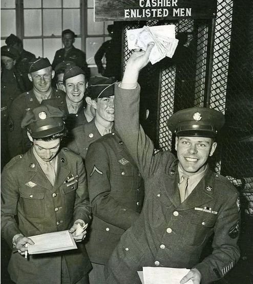Discharged from military service, 1945