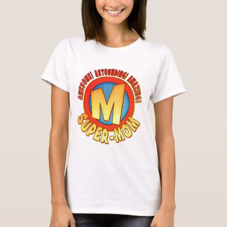 Super Mom Mother's Day Ladies Baby Doll T-Shirt - tap, personalize, buy right now!