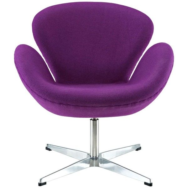 Modway Furniture Modway Wing Lounge Chair, Purple ($452) ❤ liked on Polyvore featuring home, furniture, chairs, accent chairs, swan chair, arm rest chair, purple lounge chair, armrest chair and purple accent chair