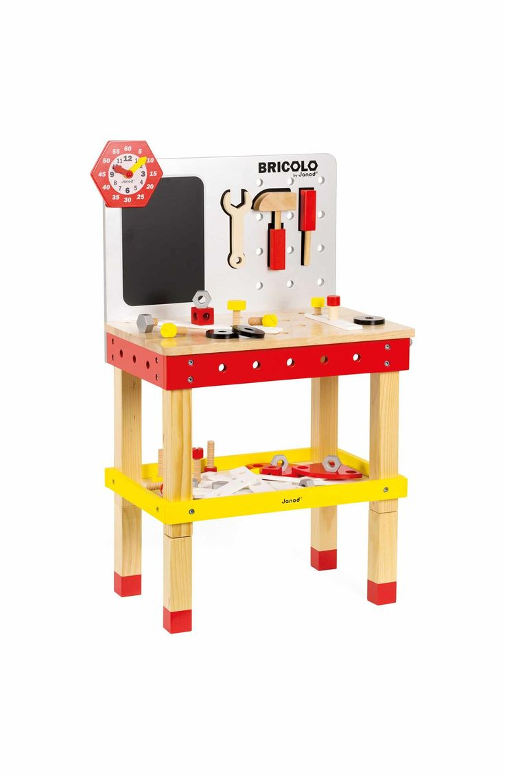 Janod 'Bricolo Redmaster Magnetic Workbench' Play Set ...