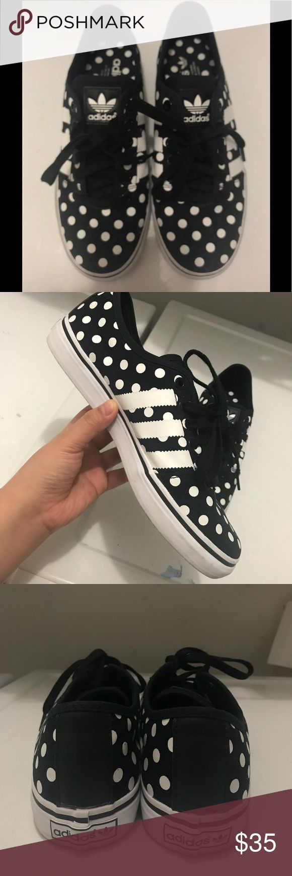 Adidas ADRIA LOW👟 Black and white polka dots style ☺️ worn for just a couple of times! like new!!! ❤️ still have the original box :) adidas Shoes Sneakers