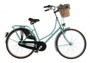 Beautiful city bike with a basket - perfect gift idea for Mother's Day!