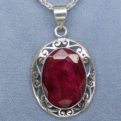 41 best ruby jewelry in sterling silver images on pinterest cross big genuine ruby jali filigree pendant necklace sterling silver free shipping mozeypictures Gallery