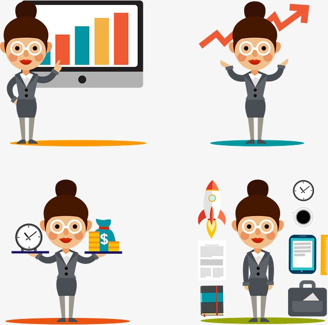 Business Woman Illustration Vector Business Career Png And
