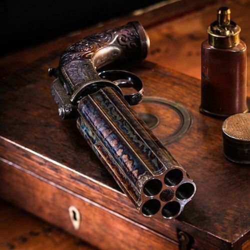 #Repost @daily_badass  ・・・  Five Barrel Rotary Percussion Pistol made by @_WestleyRichards_  •  #weaponsdaily #sickguns #merica #machinegun #badassmedia #glock #revolver #pistol #firearm #gun #HillaryForPrison #freedom #molonlabe #handgun #fullauto...