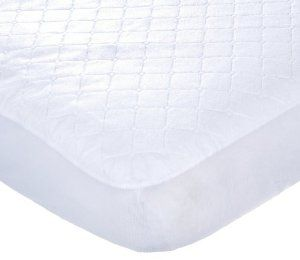 Carters Keep Me Dry Waterproof Fitted Quilted Crib Pad in white (on registry)