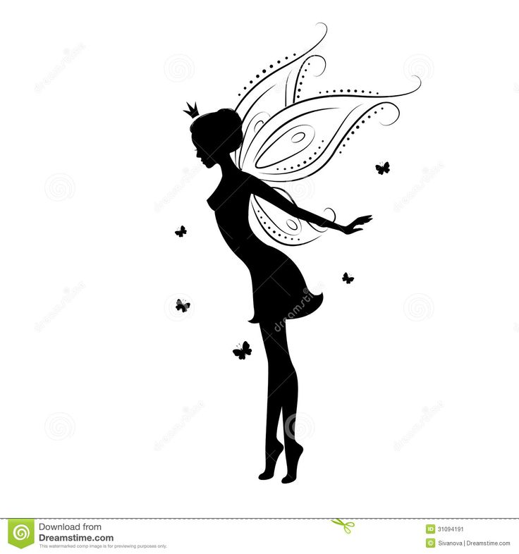 fairytale silhouettes | Beautiful fairy silhouette She dancing with butterfly , illustration ... 1300 x 1390 * 128 kB * jpeg