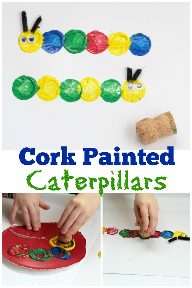 This fun, easy and adorable Preschool Caterpillar Craft will make kids smiles! So simple and so adorable, adults will want to make one too! via @sightsoundread