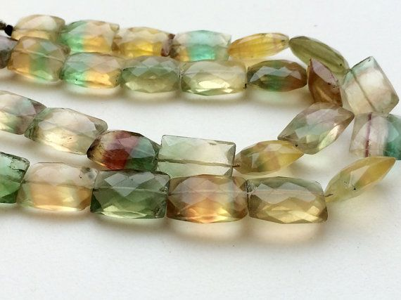 Fluorite Beads Multi Fluorite Chewing Gum Cut by gemsforjewels