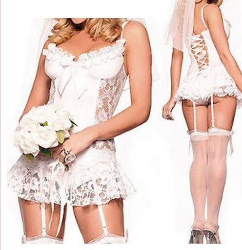 Белое кружево белье мантилья невесты свадебное платье женское белье пижамы женское белье костюм сексуальное пижамы, Сексуальное кимоно, Uniformw5061