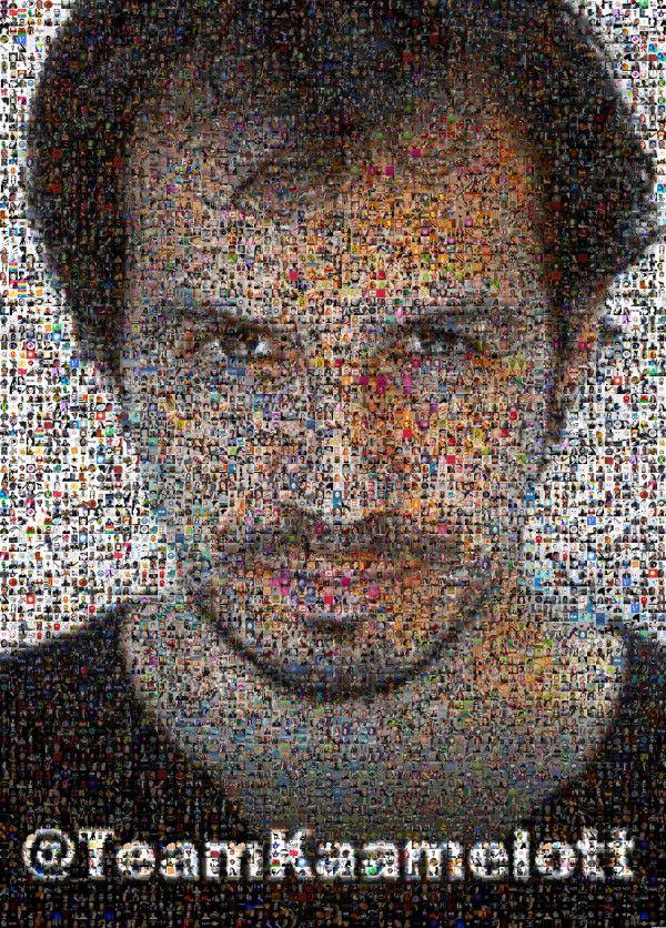 Les 2000 followers de Kaamelott aur la photo d'Arthur/Alexandre Astier... ça le fait ;-)