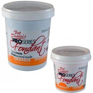 Fat Daddios Rolled Fondant - Orange - Vanilla - 8 oz Golda's Kitchen
