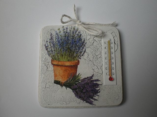 decoupage - thermometer,  handmade by Joanna