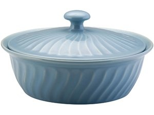 Signature Stoneware Round Covered Casserole (10-in.): Robin's Egg Blue by Paula Deen at Food Network Store