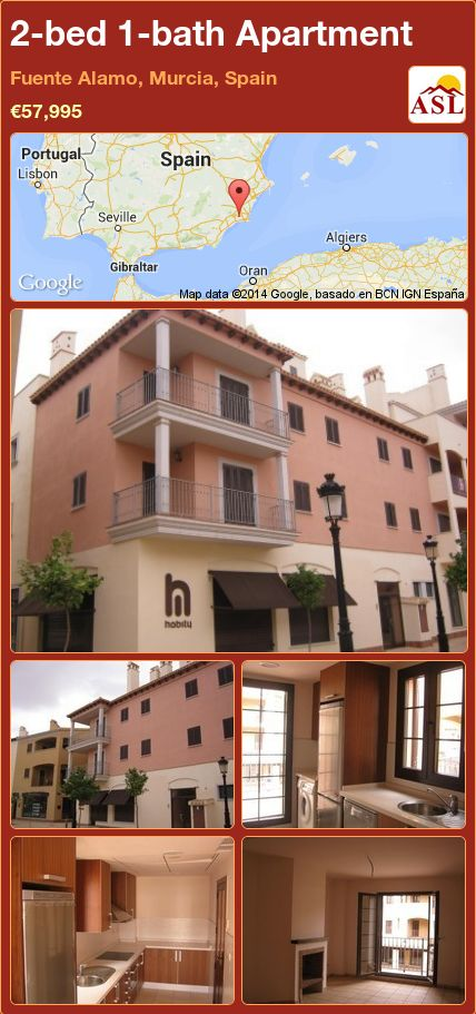 2-bed 1-bath Apartment in Fuente Alamo, Murcia, Spain ►€57,995 #PropertyForSaleInSpain
