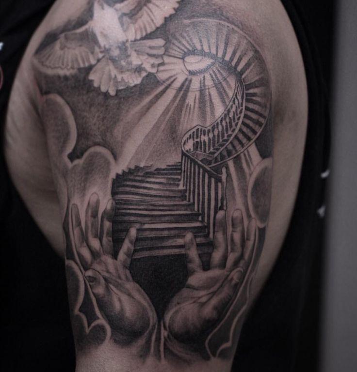 Stairway to heaven tattoo -Gabreal Hernandez • Royal Craft Gallery, Az