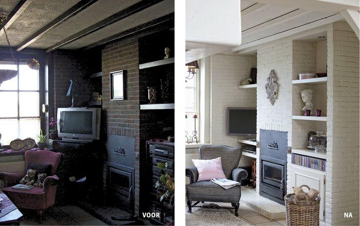 Woonkamer Muur Verven : muur wit verven Inspiratie huis Pinterest