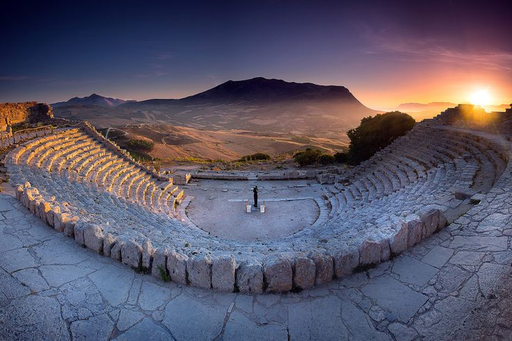 Anfiteatro di Segesta, Sicilia,Italia