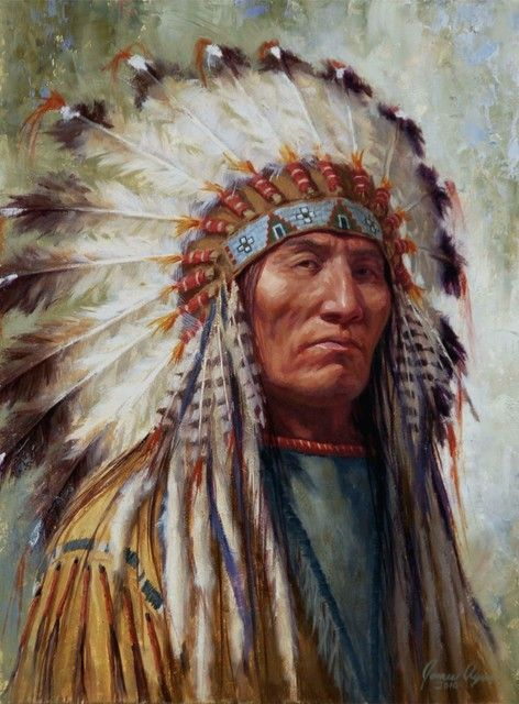Respected Leader, Lakota - by James Ayers
